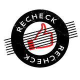 Recheck rubber stamp Royalty Free Stock Image