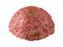 Recheio de carne cru no branco foto de stock