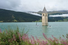 Rechensee with sailers Stock Photography