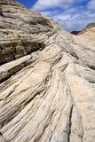 Recherchant les grès en gorge de neige - Utah Photographie stock