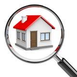 Recherche à la maison Image stock
