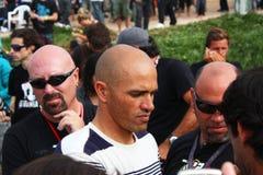 Recherche 2009 de Rip Curl de WCT pro dans Peniche Image libre de droits