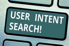 Recherche attentive d'utilisateur d'apparence de signe des textes Photo conceptuelle quelle recherche de démonstration en conduis photo stock