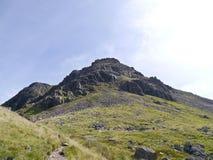 Recherche aux rochers de Kirkfell du passage noir de voile photographie stock libre de droits