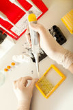 Recherche d'ADN Image libre de droits