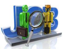Recherche d'emploi et concept bien choisi d'emploi de carrière Images libres de droits