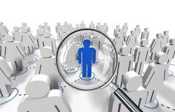 Recherche d'emploi masculine Images libres de droits