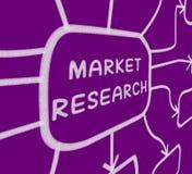 Recherche d'expositions de diagramme de recherche de marché Image stock