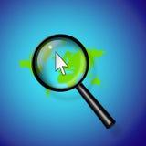 Recherche d'Internet de la terre Photo stock