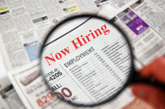 Recherche d'un emploi Image libre de droits