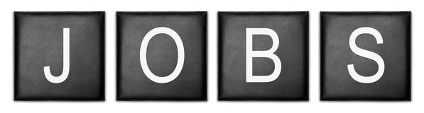 Recherche d'un emploi Image stock