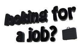 Recherche d'un travail ? Photos stock