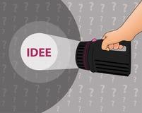 Recherche d'une idée Image stock