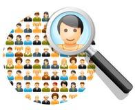 Recherche dans le réseau social Photo libre de droits
