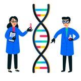 Recherche de génome humain E Projet génome humain Style plat illustration de vecteur