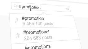 Recherche de hashtag de promotion par les postes sociales de media clips vidéos