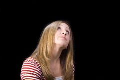 Recherche de l'adolescence Photos stock