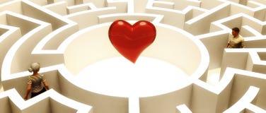 Recherche de l'amour illustration de vecteur