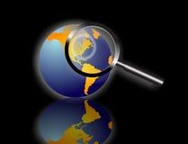 Recherche de l'information du monde illustration de vecteur