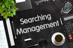 Recherche de la gestion sur le tableau noir rendu 3d Image libre de droits