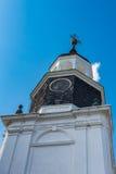 Recherche de la vue d'une tour d'église Photographie stock libre de droits
