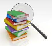 Recherche de livre Photo stock