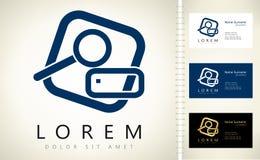 Recherche de logo de dossiers Photographie stock libre de droits