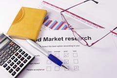 Recherche de marché Photo stock