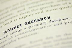 Recherche de marché Images stock
