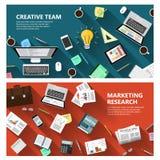 Recherche de marché et concept créatif d'équipe Photos libres de droits