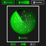 Recherche de propriété de radar Photographie stock libre de droits