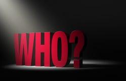 Recherche de qui ? Photos libres de droits