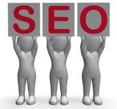 Recherche de SEO Banners Mean Optimized Web et Images stock