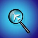 Recherche de transports aériens Image libre de droits