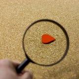 Recherche de Valentin de l'amour Image stock