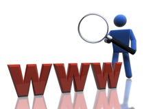 Recherche de Web Image stock