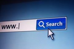 Recherche de Web photographie stock