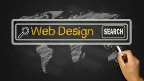 Recherche de web design image libre de droits