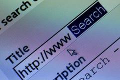 Recherche de WWW Photographie stock libre de droits