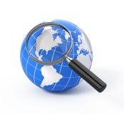Recherche der Ikone 3d Lizenzfreies Stockfoto