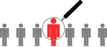 Recherche des employés Images stock