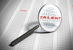 Recherche des talents - concept de recrutement Images stock