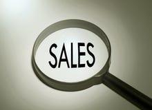 Recherche des ventes Photo stock