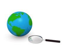 recherche du monde Photographie stock