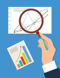 Recherche du processus, illustration de vecteur d'Analytics Images libres de droits