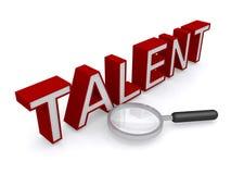 Recherche du talent Images stock