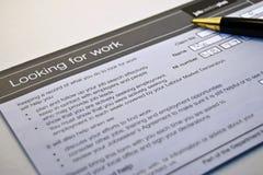 Recherche du travail Photo libre de droits