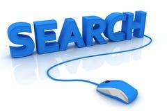 Recherche en ligne Photo stock