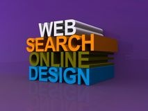 Recherche en ligne de Web de conception Photo libre de droits