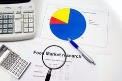 Recherche et comptes de marché Image stock